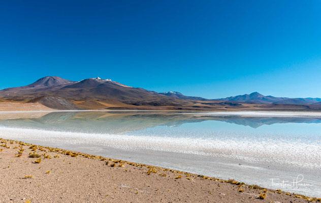 Der Salar de Pujsa ist eine geomorphologische Salzpfanne in der Atacamawüste in Nord-Chile. Er liegt eingebettet in der Hoch-Puna, rund 90 km südöstlich von San Pedro de Atacama.