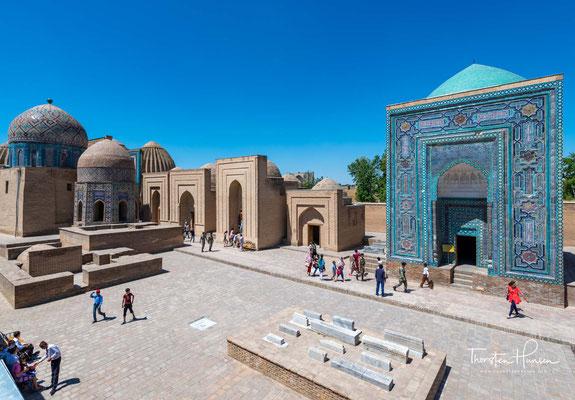 Der Hauptteil des Ensembles ist der Kussam-ibn-Abbas-Komplex. Er liegt im nordöstlichen Teil und besteht aus verschiedenen Gebäuden.