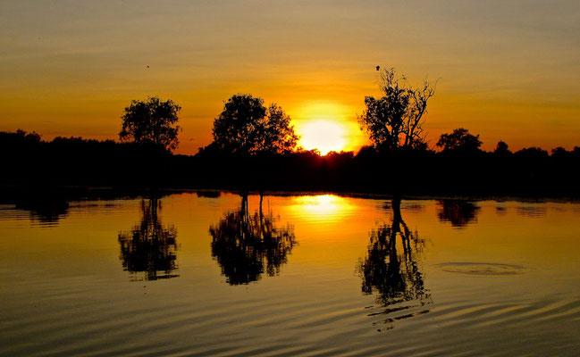 Sonnenaufgang Yellow River im Kakadu NP