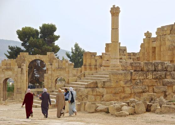Ruinen der römischen Stadt Jerash