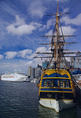 Die Endeavour im National Maritime Museum
