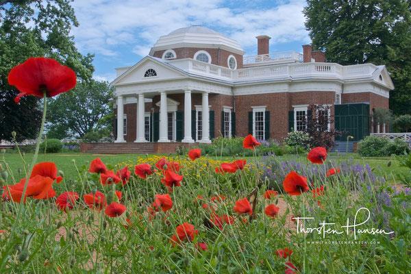 Präsident Jeffersons Haus Monticello in Virginia