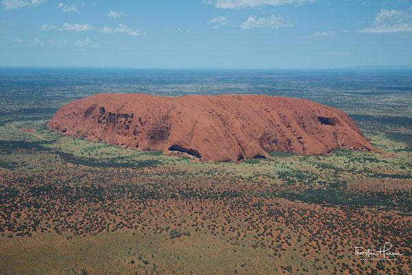 Der Uluru von oben