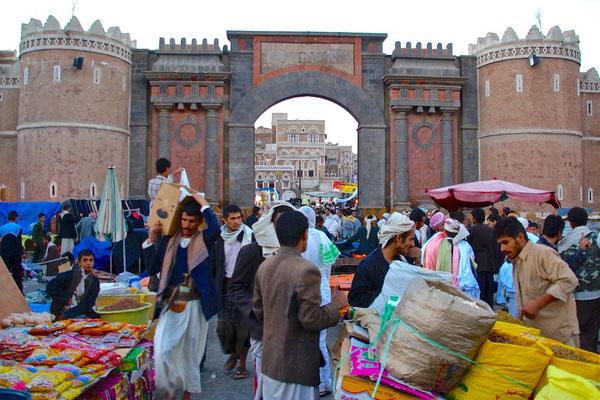 "Das ""Tor des Jemen"" (bab al-Yaman) in Sanaa"