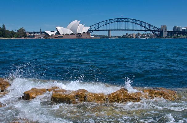 Blick auf Sydney vom Mrs Macquarie's Chair
