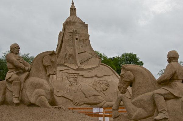 Sandskulptur in Lappeenranta
