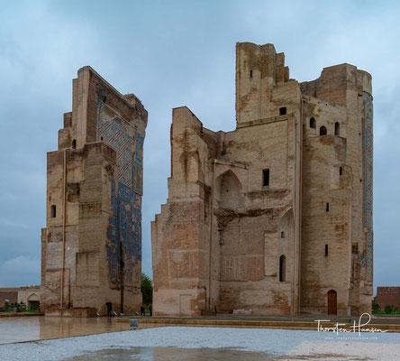 Nach der Unabhängigkeit Usbekistans wurden 1994–1998 Konservierungsarbeiten durchgeführt. Auf dem ursprünglichen Gelände des Palastes wurde eine Kolossalstatue von Timur auf einem hohen Sockel errichtet.
