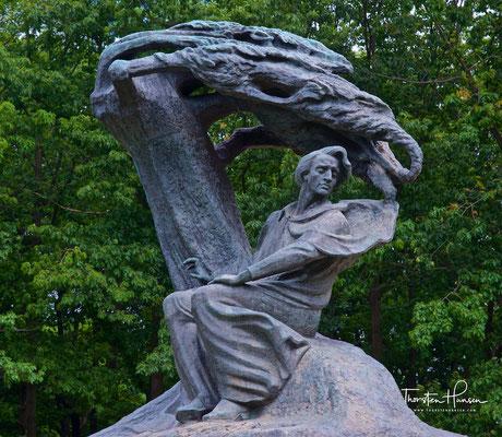 Chopin-Denkmal in Warschau im Łazienki-Park