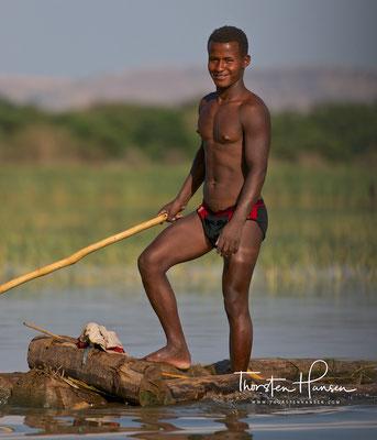 Fischer auf dem Lake Chamo