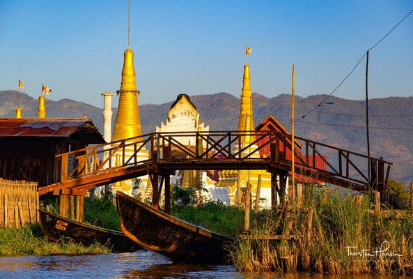 Sie ziehen die Barke mit den Buddha-Statuen von einem Dorf zum nächsten und veranstalten am Schlusstag des Festes spannende Bootsrennen.