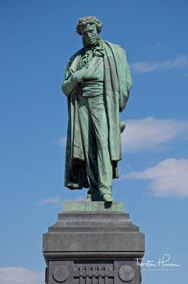 Das Denkmal A.S.Puschkin in der Tverer Straße