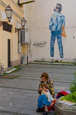 Knez Mihailova Flaniermeile in Belgrad