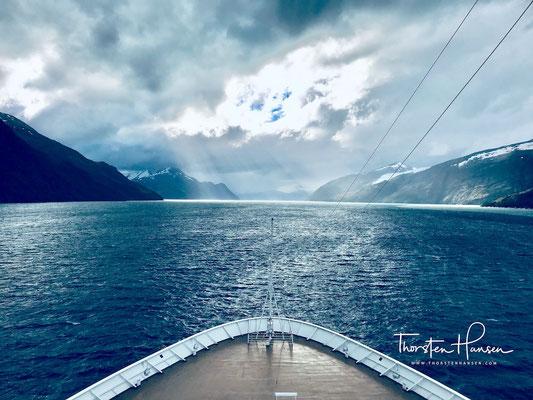 Gletscher am Beagle-Kanal mit der M.S. Zaandam