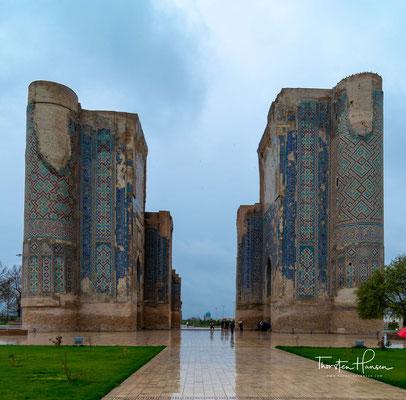 Der Bau des Schlosses wurde 1380 begonnen und dauerte 24 Jahre bis 1404, kurz vor Timurs Tod.