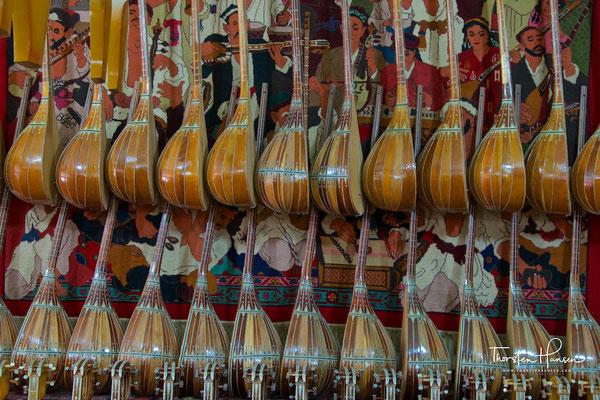 Musikgeschäft in Kashgar