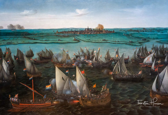Schlacht am Haarlemmermeer von Hendrick Cornelisz Vroom 1621