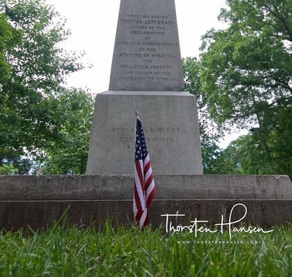 Grab von Präsident Jeffersons, Monticello in Virginia