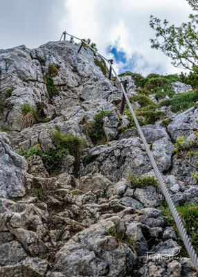 Der Aufstieg zu den Achselköpfen und auch auf die Benediktenwand, sieht schwer aus als sie am Ende sind.