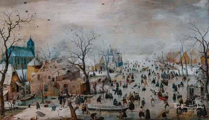 Winterlandschaft mit Schlittschuhläufern von Avercamp