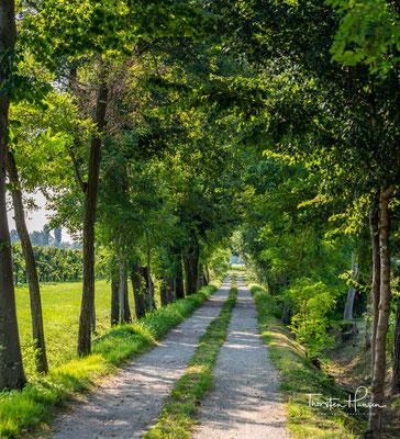 Endlich wieder idyllische Wanderwege entlang des Flusses Piave