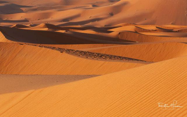Die andere Sandwüste in Marokko ist Erg Chegaga in etwa 45 bis 60 Kilometer Entfernung von Mhamid.