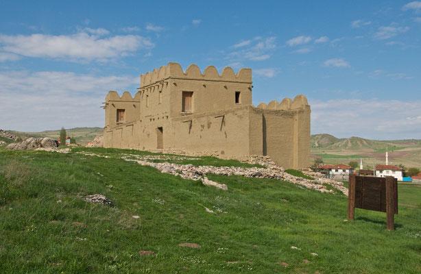 Lehmziegelmauer in Hattuscha