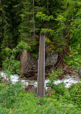 Brücke über den wilden Oberbergbach auf 1720m