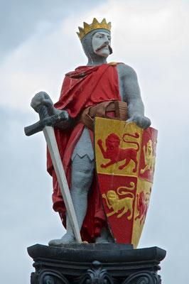 Statue von Llywelyn Fawr in Conwy
