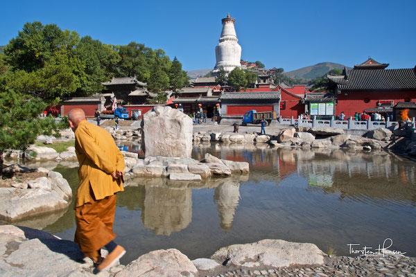 """Nanshan Si Tempel - Wutai Shan """"Fünf-Terrassen-Berg"""" einer der heiligen Berge des Buddhismus"""