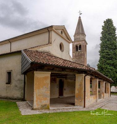 Der erste Kern der Kirche stammt aus der Zeit zwischen dem 8. und 9. Jahrhundert und ist wahrscheinlich das älteste Sakralgebäude der damaligen Diözese Ceneda.