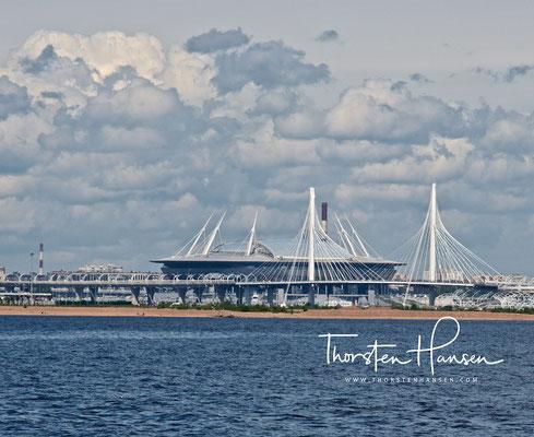 Sankt-Petersburg-Stadion an der Newa