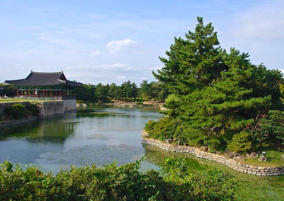 Anapji Pond in Gyeong Ju