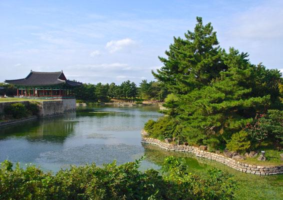 Anapji Pond in Gyeong Ju