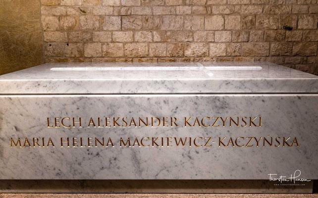 Sarkophag von Lech Kaczyński und dessen Gattin Maria Kaczyńska