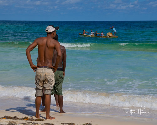 Fischer an der Playa Rincon auf der Halbinsel Samaná