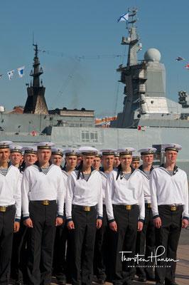 Marinesoldaten in St. Petersburg