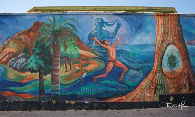 Die Bucht um Valparaíso war von den Changos bevölkert, einer ethnischen Gruppe, die sich der Fischerei und Landwirtschaft widmete.