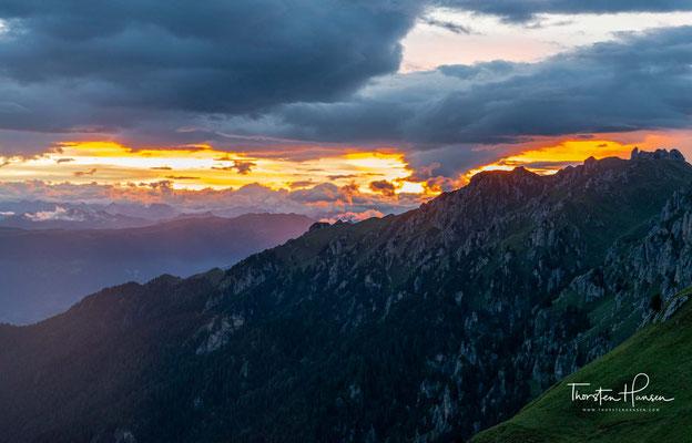 Traumhafter Sonnenuntergang auf der Schlüterhütte