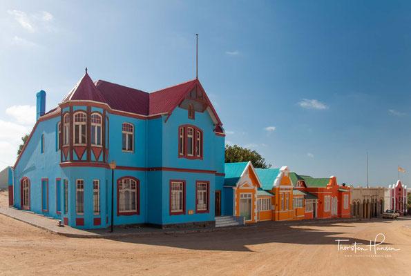 Die historischen Behausungen Bergstraße in Lüderitz