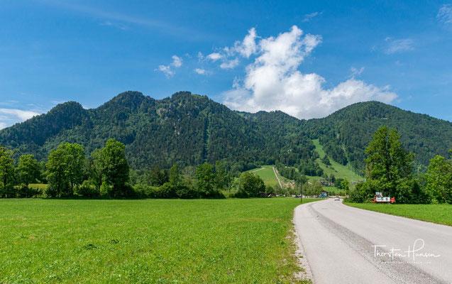 Blick auf das Karwendel und die Brauneck-Gipfelbahn. Ich werde selbstverständlich zu Fuß gehen.