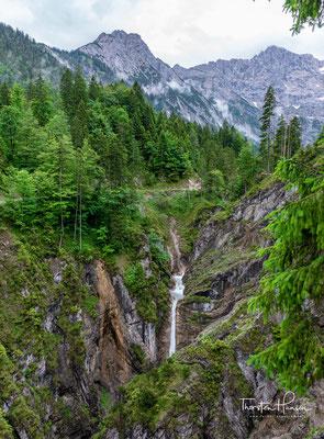 Der Jungfernsprung im Karwendel – Aussicht auf die Klamm am Eingang des Tortals