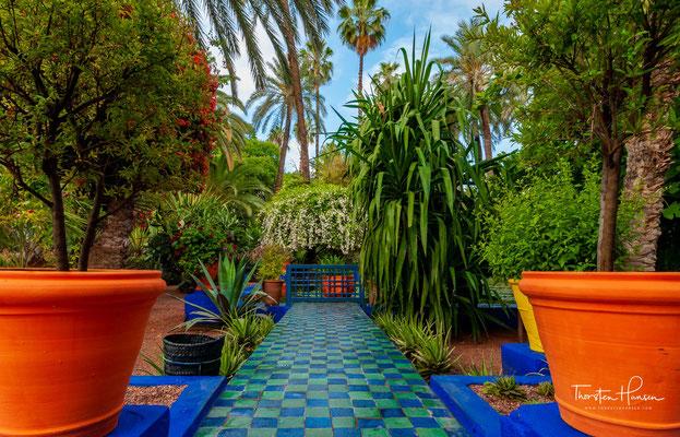 Der Jardin Majorelle ist ein ca. 4000 m² großer botanischer Garten in Marrakesch, Marokko.