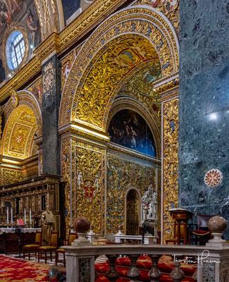 In Auftrag gegeben von Großmeister Jean de la Cassière als repräsentative Klosterkirche an der Ordenszentrale.