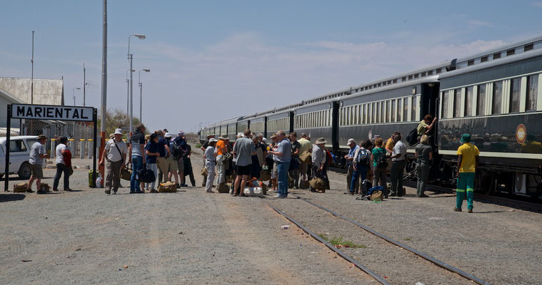 Mit dem African Explorer / Shongololo Train in Marienthal