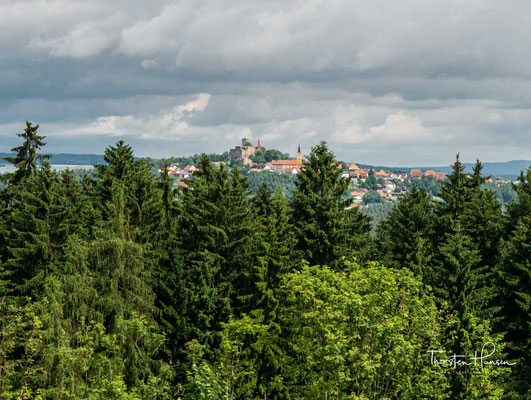Blick auf den Ort Leuchtenberg