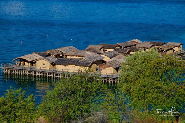 Pfahlbauten am Ohridsee- Gradište