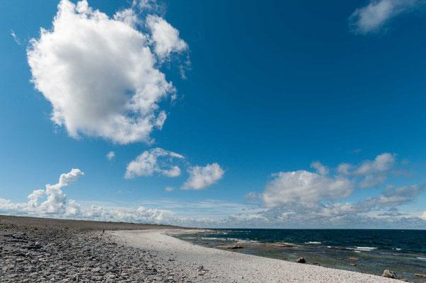 Gotland besteht zu weiten Teilen aus einem Kalksteinplateau, im Süden liegt ein größerer Bereich auf einer Sandsteinformation.