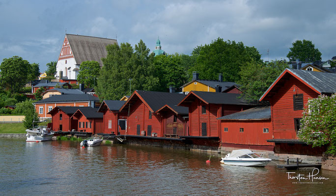 Porvoo ist berühmt für ihre malerischen Holzhäuser