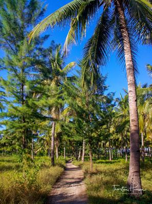Die Insel wird von etwa 400 Einwohnern bewohnt, die vom Tourismus, dem Kokosnussanbau und dem Fischfang leben.