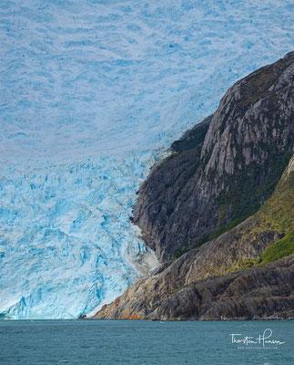 Gletscher-Italia in der Gletscher-Gasse im Beagle Kanal
